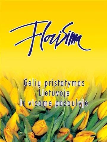 Gėlių pristatymas į namus visoje Lietuvoje / Florisima
