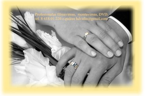 Vestuvių FILMAVIMAS, montavimas, Blu-ray / DVD