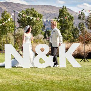 Pastatomos raidės vestuvėms ir kitoms šventėms