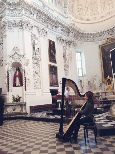 Arfos muzika, arfos ir smuiko duetas renginiams ir šventėms