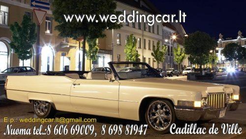 Nuomojamas Cadillac de Ville 1970 metu. Kabriolėtas