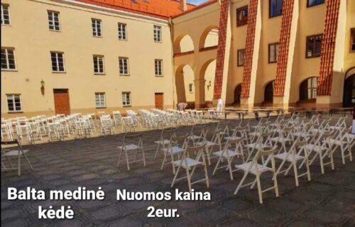 Stalų, suolų, kėdžių, staltiesų nuoma